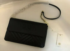 Tory Burch Alexa Leather Clutch and Shoulder Bag Black # 50645