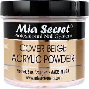 Mia Secret Cover Beige Acrylic Powder 0.5 , 1 , 2 , 4 , 8 oz - CHOOSE YOUR SIZE