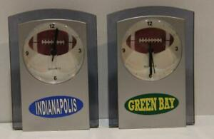 Packers or Colts Desk Clocks and Colts LS Pullover Shirt