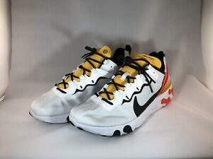 Nike React Element 55 CRIMSON GOLD Size 10