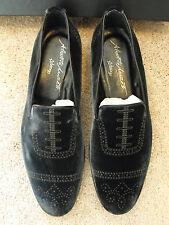 $795 NIB ALBERTO MORETTI Arfango ITALY Velvet Loafer EU 43.5 UK 9.5 US 10.5