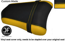 YELLOW BLACK VINYL CUSTOM FITS DUCATI 749 999 REAR PILLION PASSENGER SEAT COVER