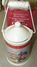 Thomas Kinkade Victorian Christmas Iii Ceramic Candle with Lid Vanilla Scent