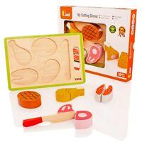 Wooden Cutting Food Set - My Cutting Dinner - Viga - Brand New - 50980
