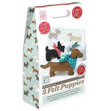 THE CRAFTY KIT COMPANY - 3 FELT PUPPIES SEWING KIT