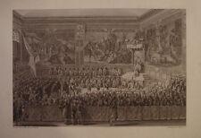 GRAVURE LIT DE JUSTICE TENU A VERSAILLE 6 AOUT 1787   GIRARDET  LOUIS XVI