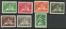 Sweden 1924 UPU Collection of 7.Short set. MH.Very Fine.
