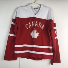 """Team Canada Youth Small Hockey Jersey Red White """"Home of Hockey"""" Northern Vibe"""