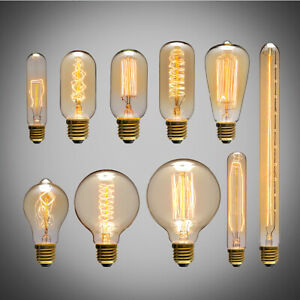E27 ES Antique Edison Vintage Filament Bulbs Dimmable Industrial Style 25/40/60W