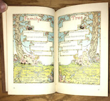 1940 Vintage Leather Baby Book ~ The Book Of Baby Mine ~Unused w/ Color Illustr.