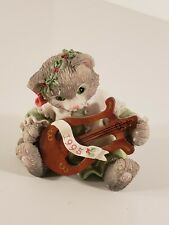 1995 The First Noel Calico Kittens Enesco Christmas w/ Box & Paper