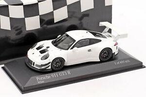 Porsche 911 (991) GT3 R Plain Body Version 2018 weiß 1:43 Minichamps