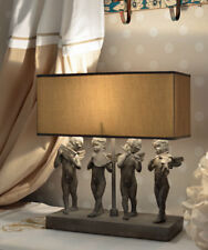 VINTAGE LAMPE DE TABLE Figurines anges SHABBY CHIC
