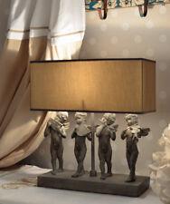 Vintage Lampada Tavolo Figure Angeli Abat-jour Shabby Chic Illuminazione