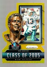 DAN MARINO 2015 PANINI PRIZM HALL OF FAME DIE-CUT GOLD REFRACTOR #02/10 DOLPHINS