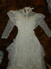 Vintage 1980's Bridallure Lacey Wedding Dress