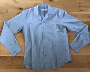 Orlebar Brown Shirt Cotton Lightweight Resort Wear Medium Light Blue Rrp £195