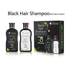 Dexe 200ml Black Hair Shampoo 5Min Instant Hair Color Dye Developer Colorant Set