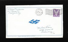 WWII Patriotic Belles Lettres Fractured Swastika Port Jervis 1943 Cover 9t