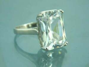 Natural Certified Cubic Zircon CushionCut Gemstone Wedding Ring Gift For Her
