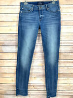 Lucky Brand Womens Jeans Lolita Skinny Blue Distressed Frayed Hem Size 4 / 27
