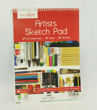 A4 Size Sketch Pad White Drawing Artist Paper on Spiral Book 80 Pages 90 GSM
