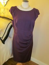 COAST LUNA DRESS SIZE 16 PURPLE