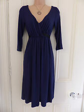 M2B Mothercare navy blue jersey fabric dress UK size 8 with tie belt