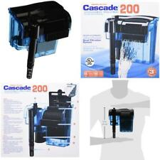 Penn Plax Cascade Hang-On Aquarium Filter With Quad Filtration System Cleans Up