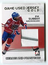 PK Subban 2009-10 ITG Heroes & Prospects Game-Used Jersey Card Gold /10 *AA1363