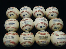 12 Rawlings MLB AFL new & game used autographed baseballs batting practice?