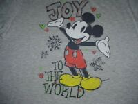 NEW WT DISNEY MICKEY MOUSE CHRISTMAS T-SHIRT S 3 / 5 JR WOMANS COTTON POLY BLEND