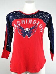 Washington Capitals NHL G-III Women's Graphic Net Sleeve T-Shirt