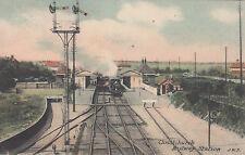 1908 used postcard ~ Christchurch Railway station