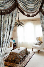 Persian Dance - Classic Overlapping Swag Valance Curtain Drape Set