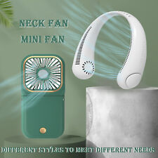 Portable Mini Neck Sport Fan Necklace Hanging Air Conditioner Cooling Collapse