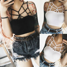 Sexy Fashion Women Solid Lace Club Bralette Bustier Crop Top Bra Shirt Vest