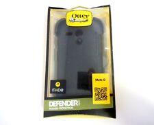 New OEM OtterBox Motorola Moto G 1st Gen. Black Defender Case+Holster Belt Clip