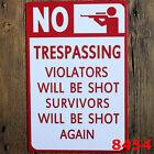 NO TRESPASSING Warning Art Tin Sign Bar pub home Wall Decor Retro Metal Poster