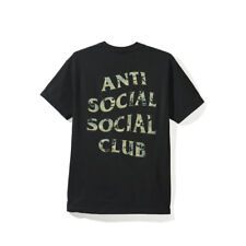 454748476469 XLarge XL ASSC Anti Social Social Club Woody Black Tee Brand New 100%  Authentic
