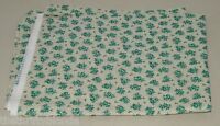 1 Yard Retro Teal Floral Rose Roses Bouquet Quilting Cotton Fabric 1595l
