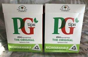 2 x 160's PG Tips One Cup Pyramid Tea Bags