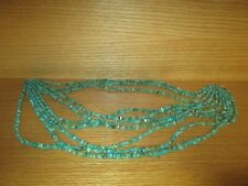 (Jay King) 10 Stranded Turquoise Beaded Necklace with .925 Clasp
