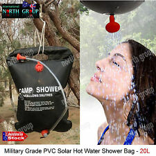 SOLAR SHOWER HEATER WATER BAG 20L TANK CARRIER HANGING CAMPING OUTDOOR HIKING