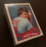 50) PETE ROSE Cincinnati Reds 1989 Topps Manager Baseball Card #505 LOT