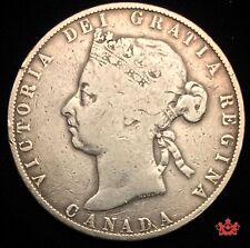 1898 Canada 50 Cents Victoria - VG - Lot#100