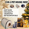 Small Pet Dog Cat Cave House Kennel Winter Warm Nest Foldable Sleeping Mat Pad