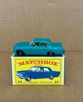 VINTAGE MATCHBOX LESNEY No.33b FORD ZEPHYR 6 IN ORIGINAL BOX ISSUED 1963 c