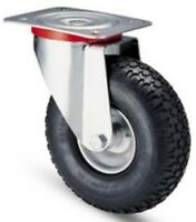 Wheel Wheels Pneumatic Record iron Bracket Rotating d.260x85 Capacity 153 Kg