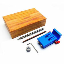 Pocket Hole Drilling Jig Kit+Step Bit Woodworking Joinery Tools for Kreg System